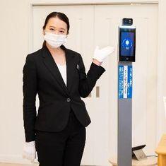 感染予防管理 次世代顔認証熱感知システム