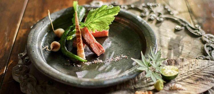 四季で変わる旬な食材を使用した美食は、五感で楽しめる