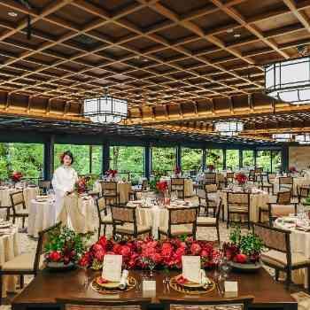 国の名勝指定庭園「神苑」を一望