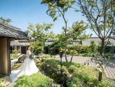 和庭園でデザートビュッフェ