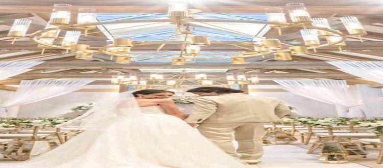 天井高7.5mの全天候型、お二人に合わせた光の演出まで可能