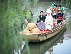 小野川での花嫁舟演出も