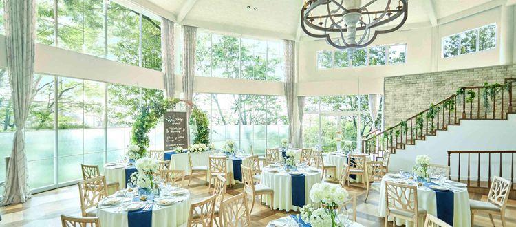 緑に囲まれた空間とオープンキッチンから届く料理が好評!