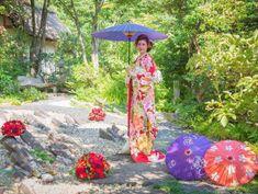 日本庭園で本格和装フォトを