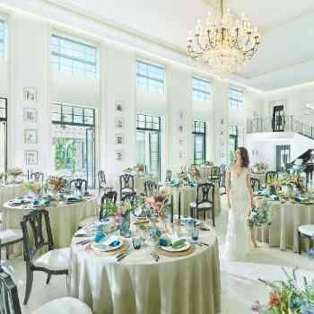 大階段×ガーデン隣接の披露宴会場