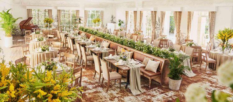 ガーデン付のパーティー会場が2021年3月新しいデザインで!