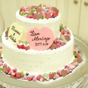 覚王山ル・アンジェ教会 フォルテシモ・アッシュのWEDDINGケーキ