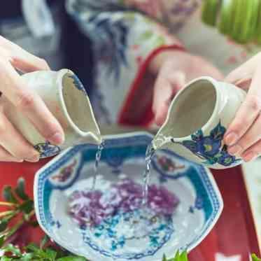 LUMIVEIL TOKYO(ルミヴェール東京) 和婚ならではの伝統ある「水合わせの儀」。オリジナルながらもしっかりとした誓いに