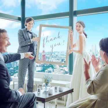 LUMIVEIL TOKYO(ルミヴェール東京) 一番綺麗に東京タワー(R)が望める親族控室。特等席からの眺めを親御様にプレゼント