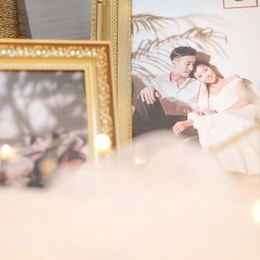 アヴァンセ リアン 大阪 白×ゴールドの会場◆自由に装飾可能なニッチェボックスもご用意◆
