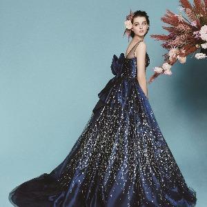 アヴァンセ リアン 大阪 グリッターをあしらった星空のようにキラキラ輝くドレス