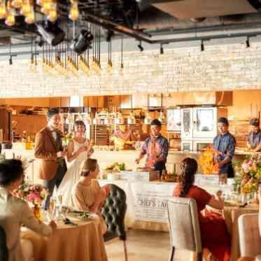 ラグナヴェール アトリエ 大迫力のフルオープンキッチンでプレイベートレストランのような贅沢なおもてなしを