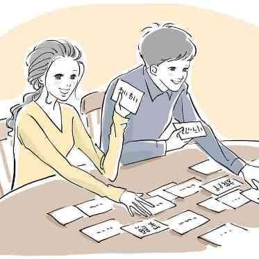 ラグナヴェール アトリエ 100枚以上のカードの中から、ふたりそれぞれが直感的に惹かれる言葉を選択