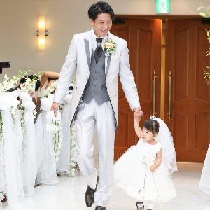 ベルヴィ武蔵野 【先輩カップルWedding】お子様と一緒の可愛い入場シーン♪