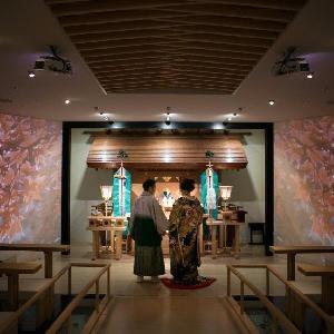 ベルヴィ武蔵野 【先輩カップルWedding】最新映像システムを使用し日本の四季を映し出します