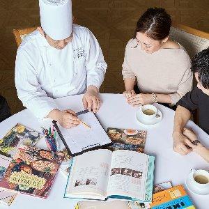 アルモニーアッシュ シェフが直接お打ち合わせ。おもてなしのお料理はオリジナルメニューも可能!
