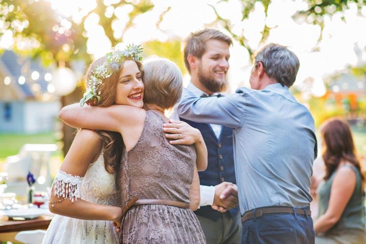 子育て感謝状 結婚式 笑顔