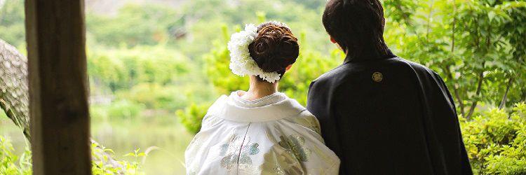 和装婚 紋付袴 新郎新婦