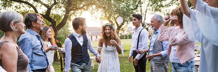 結婚式,家族,祝福
