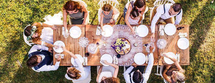 結婚パーティ,食事