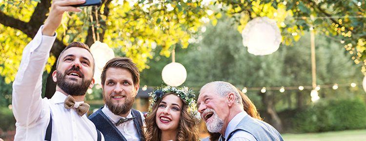 結婚式,スマホ撮影