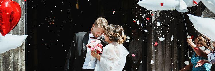 結婚式,フラワーシャワー