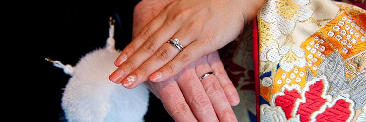 新郎新婦 和装 指輪