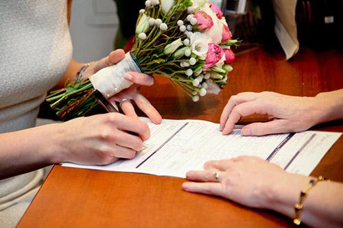 結婚証明書 サイン