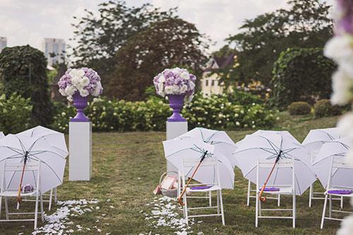 ガーデンウエディング 傘