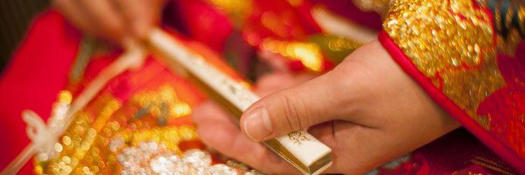 結婚式 和装 色内掛 鶴 新婦 花嫁衣裳