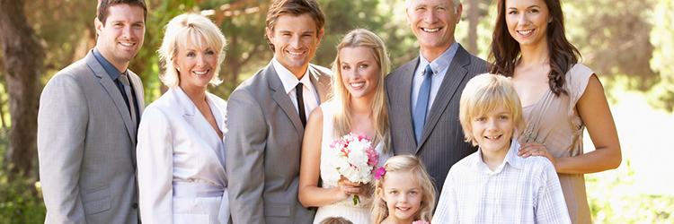 結婚式 家族 写真