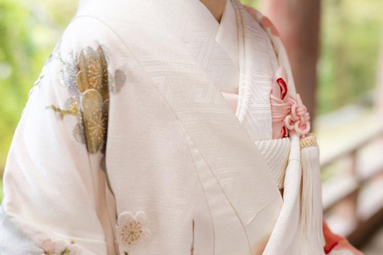 白無垢色掛け 下組み合わせ 和装 結婚式