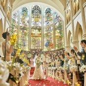 【衛生面◎組数限定】憧れ大聖堂で花嫁体験×絶品コース試食