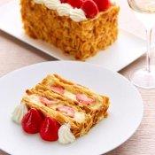 ◆カップルでのご来館限定◆「苺のミルフィーユ」付き×特製フレンチ無料試食