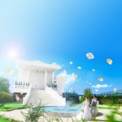 ◆連休◆限定特典 青空に映える白亜のチャペル&貸切邸宅W体験